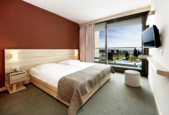 Jednokrevetna soba sa francuskim ležajem balkonom i polupansionom